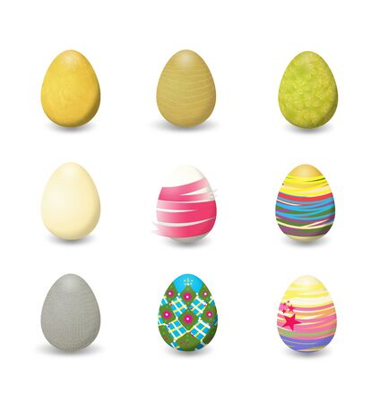 nine eggs designed for Easter  photo
