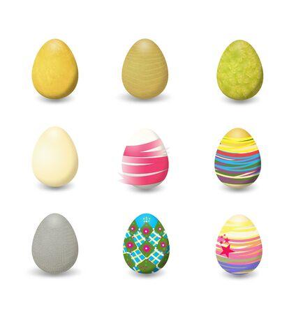nine eggs designed for Easter  photo