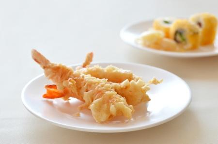 deep: Fried Shrimps , Tempura Japanese cuisine