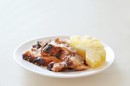 Teriyaki Chicken with fresh pineapple - Japanese Food photo