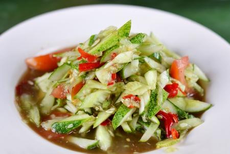 String bean spicy salad , thai spicy salad photo