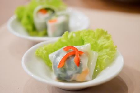 southeast asian style ,  noodle roll   Banco de Imagens