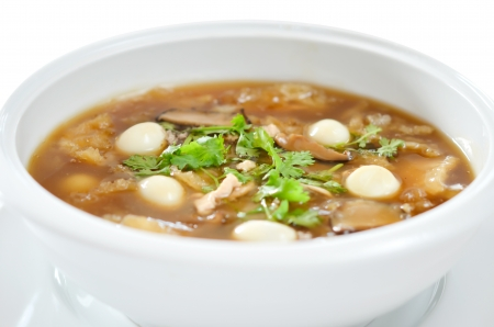 Chinese fish maw soup ,  delicious , nourishing and hearty