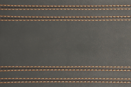 horizontal stitched leather background , art wallpaper Stock Photo