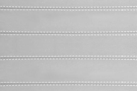 gray  horizontal stitched leather background   , art textures  photo