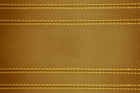 brown  horizontal stitched leather background  , art wallpaper photo