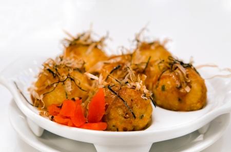 Takoyaki octopus balls - Japanese food
