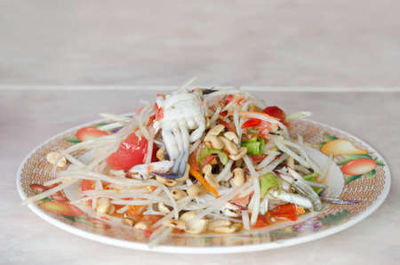 Spicy papaya salad with crab , asian spicy dish Stock Photo - 22823114