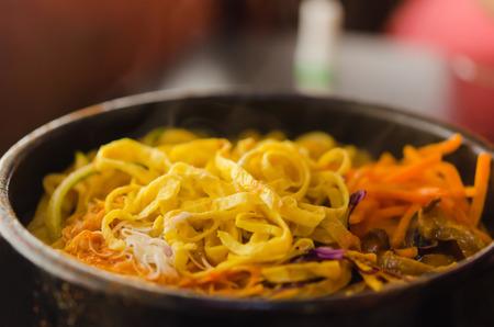 stew pan: Spicy Korean-style stew pan