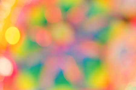 Abstract & Festive background with bokeh defocused lights photo