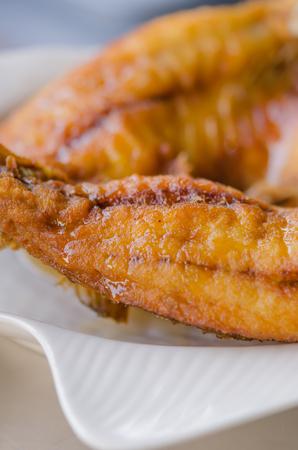 dish fish: close up plato de pescado - pescado frito Foto de archivo