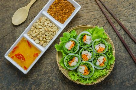 平面図生春巻き、ベトナム料理です。