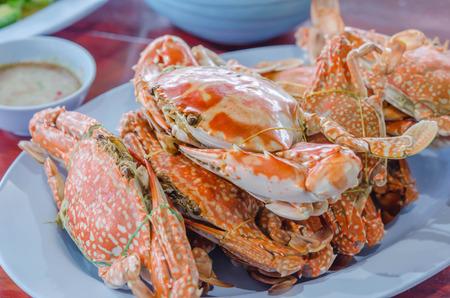 blue crab: steamed flower crab or blue crab, blue manna crab, sand crab