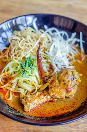 soi: Egg Noodle in Chicken Curry (Kao Soi Kai )