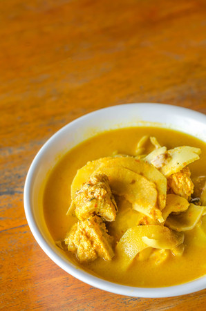 spar: Southern sour soup with pork spar rib and preserved bamboo shoot Stock Photo