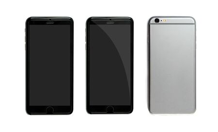 personal data assistant: New realistic mobile phone smartphone collection Stock Photo