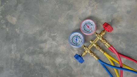 the equipment measure of air conditioner 版權商用圖片