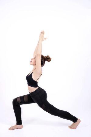 Portrait of  fitness sport girl in fashion sportswear. healthcare concept Foto de archivo - 128100899