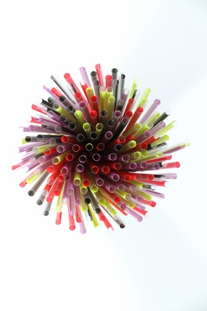 colorful drinking straw
