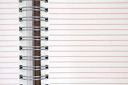 note book: nota libro con linea rossa