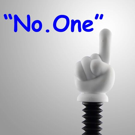 noone: pointing finger with word No.One