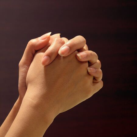 Hand of prayer photo