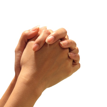 Prayer Hand isolated background photo