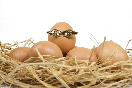 Angel Egg front view Stock Photo