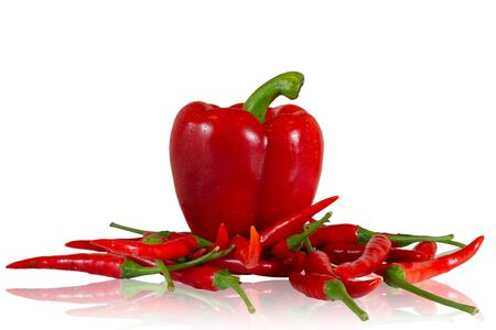red chilly: Big and small chilly