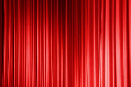 Red Curtain Stock Photo - 12465420