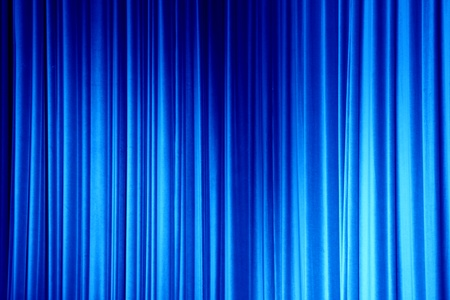 Navy Blue Curtain Stock Photo