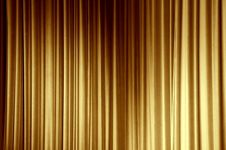 red stage curtain: Gold curtain