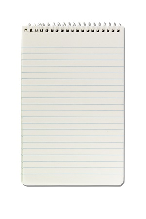 Paper notepad on white isolate background