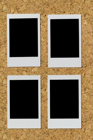 polaroid on white isolated background
