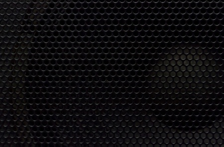 punched: Black aodio metal plate background