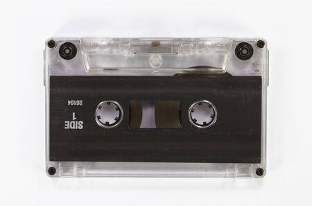 tape recorder: Cinta de casete retra a partir de los años 80 viejo y polvoriento