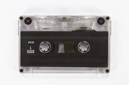 Retro cassette tape from the 80s  old and dusty photo