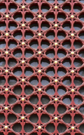 chinese culture: chinese traditional window and door decorative pattern Stock Photo