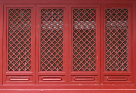 Chinese traditional red door pattern style photo