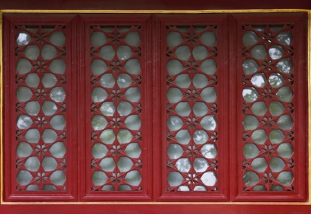 chinese traditional window and door decorative pattern Stock Photo