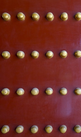 Chinese traditional red and gold door pattern style Stock Photo