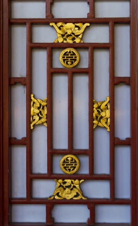 chinese traditional decorative ornament for window detail