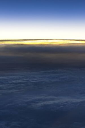 dramatic cloudscape from above photo