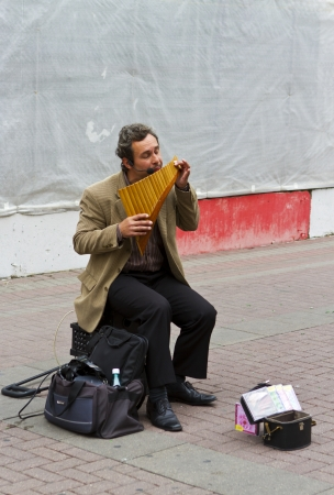 A solo carinet musician on Tverskoy Blvd, shopping steet in Moscow, Russia