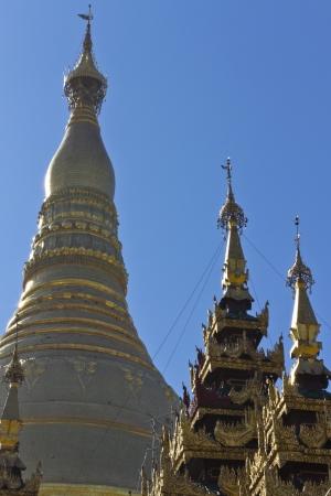 Roof detail of Shwedagon pagoda in Yagon, Myanmar