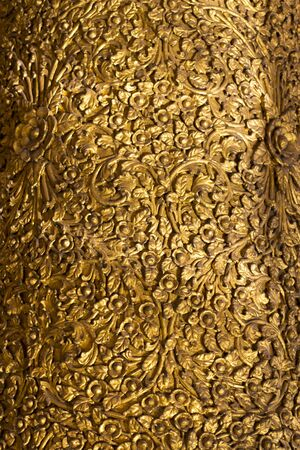 antique gold asian tradition ornament