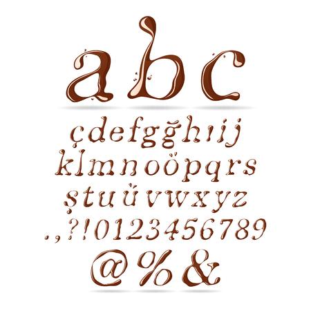 italic: Chocolate Font Lower Case Italic - Illustration