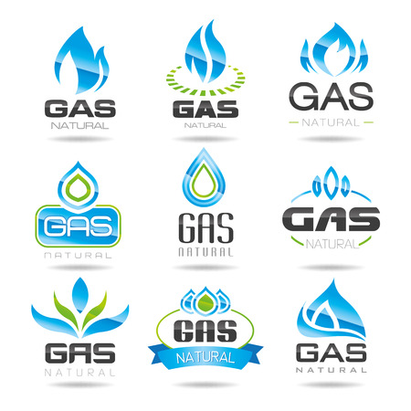 natural gas: Gas industry symbols Illustration