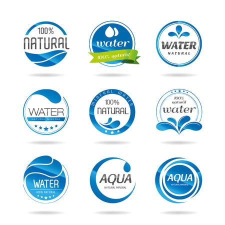 Water design elements icon - Illustration