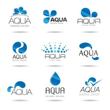 aqua icon: Aqua Icon Set - Illustration Illustration
